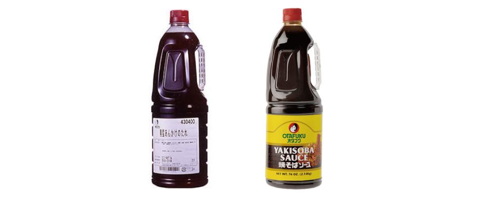"""""""OTAFUKU SAUCE"""" Nanban Ankake Sauce and Yakisoba Sauce with English Label"""
