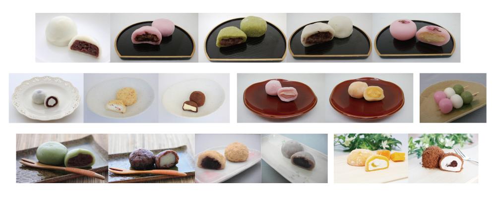 大福 洋風大福 季節の和菓子 おはぎ 三色団子 花だより 草餅