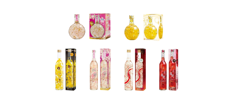 """HOKOEN"" Interior Liqueurs with Edible Flowers"